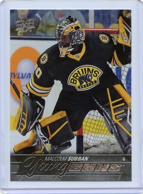 15/16 Upper Deck Young Guns Rookie Rc #211 Malcolm Subban Bruins *44551