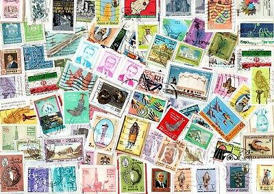 A Lovely Selection Of Kiloware Stamps From The Middle East
