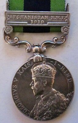 Great Britain INDIA GENERAL SERVICE MEDAL Geo. V Afghanistan NWF 1919 Clasp