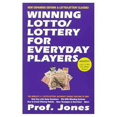 Winning Lotto/Lottery for Everyday Players - Paperback NEW Jones 26 2334 3 2003-