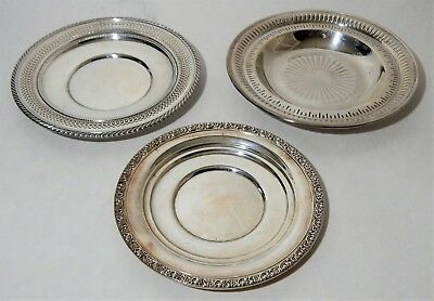 3 Solid Sterling Silver Plates ~ 554 GRAMS ~ Nice To Use or Scrap NO RESERVE