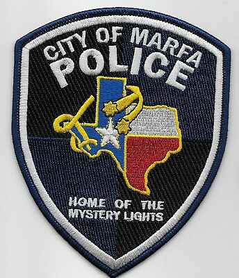Marfa Police State Texas TX patch NEW mystery lights