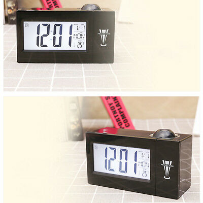 Digital Projection Alarm Clock With LCD Display Clock Color LED Projector