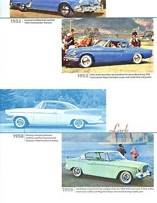 STUDEBAKER FINAL YEARS: 1945-1966 8 page COLOR Article CHAMPION LARK HAWK