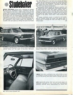 1966 Studebaker Overview 1 Page Article
