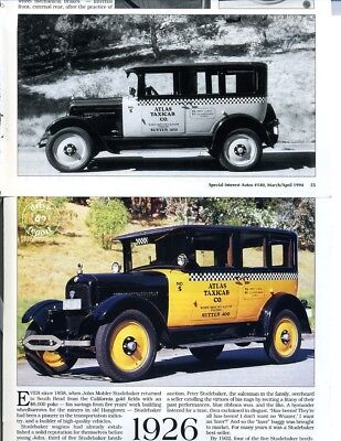 1926 STUDEBAKER STANDARD 6 TAXI 10 PG DRIVE REPORT Article