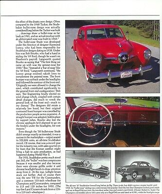 1950-1951 STUDEBAKER CHAMPION Color 3 page ARTICLE