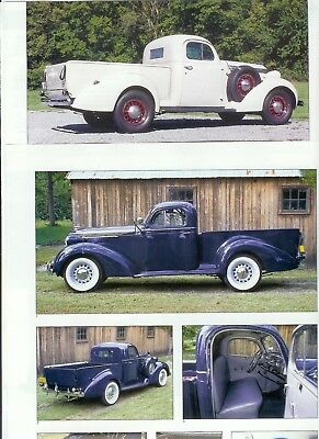 1937 1938 1939 STUDEBAKER COUPE EXPRESS PICKUP TRUCK 16 page COLOR Article