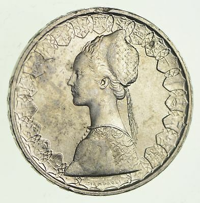 Roughly Size of Half Dollar - 1965 Italy 500 Lire - World Silver Coin - 11g *910