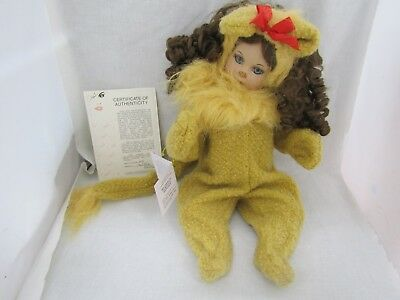 """Marie Osmond  """"Baby Cowardly Lion"""" Limited Edition Numbered 0279 Doll W/ COA"""