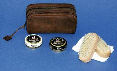 Ansett Australia Oroton Leather Shoe Shine Kit