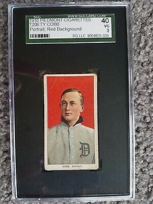 1909 T206 TY COBB Red Portrait Piedmont 350 SGC 3 (PSA/BVG) Centered
