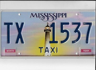 "MISSISSIPPI license plate ""TX 1537"" ***MINT***TAXI***"