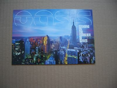Oasis - Standing On The Shoulders Of Giants - Promotional Postcard