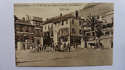 Gibraltar, Gunners Parade With H.M. The Late Queen Victoria's Monument.