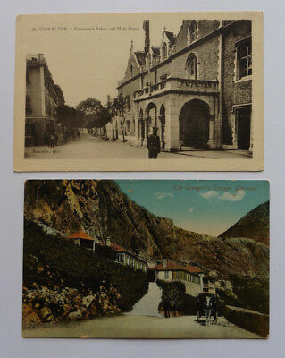 Gibraltar, Governor's Cottage, And Palace, Two Vintage Postcards.
