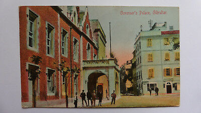 Gibraltar, Governor's Palace, Posted 1918 (?) Vintage Postcard