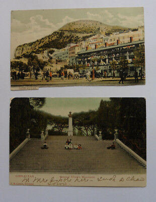 Gibraltar, General Eliot's Monument, 1906, View, 1909 Posted Antique Postcards
