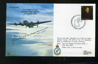 1983 HP HALIFAX RAF Cover SIGNED A Dart 77 Sqn Bomber Command WW2