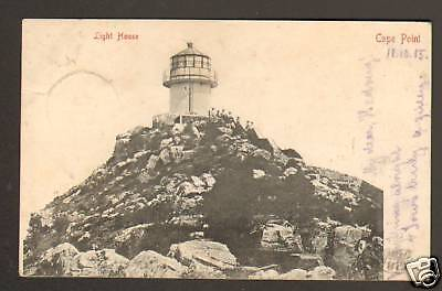 AFRIQUE du SUD : CAPE POINT , PHARE animé en 1905