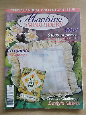 Machine Embroidery Vol 7 #5~Trapunto~Zodiac Quilt~Tropical Reef~Pinafore~