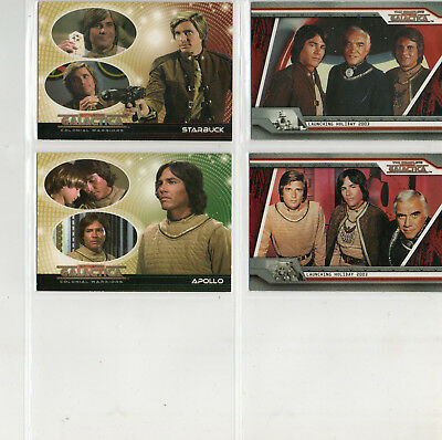 Battlestar Galactica - Complete - Colonial - Lot of 4 Different Promo Cards
