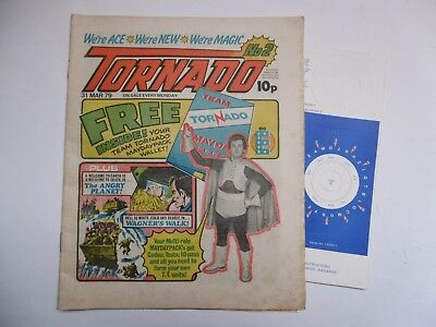 'Tornado' Comic, No.2, March 31st, 1979, with Free Gift.