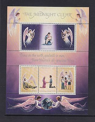 """CHRISTMAS Island 1980 Christmas MINISHEET """"The Midnight Clear """"  SONG MNH -"""