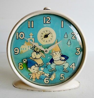 Rare Old Mid-Century Smiths Noddy Clock - Made In Great Britain - Fully Working