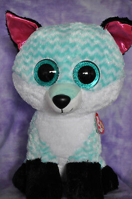 "TY Beanie Boo Claire's Exclusive Piper the Fox   Jumbo  16"" ~NWNMT~ HTF"