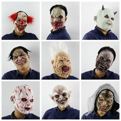 Fashion Scary Cosplay Halloween Costume Gifts Bloody Zombie Mask Latex Toys