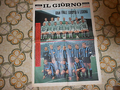 Calcio Supplemento Del Giorno  Finale  Coppa  Celtic   Inter  25-5-1967
