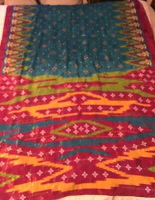 CHIC Elegant Sari~ Brilliant Colors~Astounding Pallu~EXC~As is or Redesign~EXC!