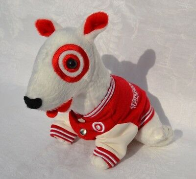 TARGET Dog BULLSEYE Plush Beanbag In Recruiting Letter Jacket 2008 Stuffed Toy