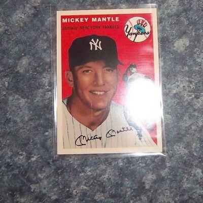 MIckey Mantle Topps Archives Baseball the ultimate 1954 series Major League Ball