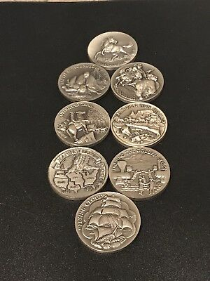 Whittnauer Guilded Coins Sterling Silver Coins/Art