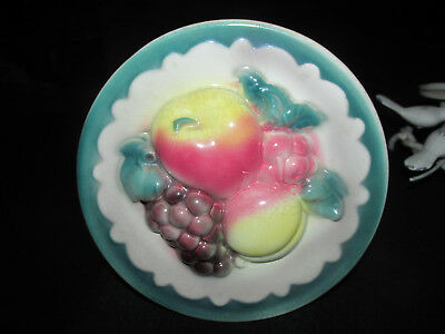 """One  Vintage Royal Copley Pottery 7"""" Fruit Wall Pockets or Vase"""