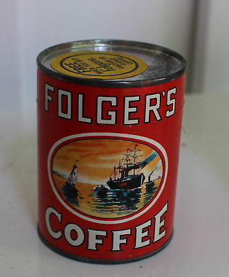 Folger's Coffee Tin with Puzzle Unopened Promo with Coffee