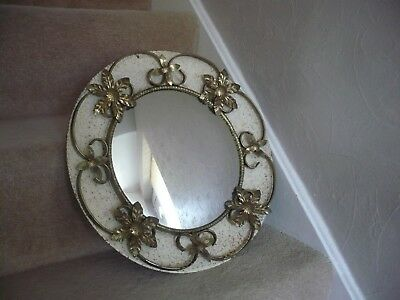A Vintage Round Convex Mirror With Metal Frame A Beautiful Mirror
