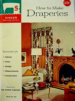 Singer SSL102 HOW TO MAKE DRAPERIES sewing library series 1960 32pg booklet