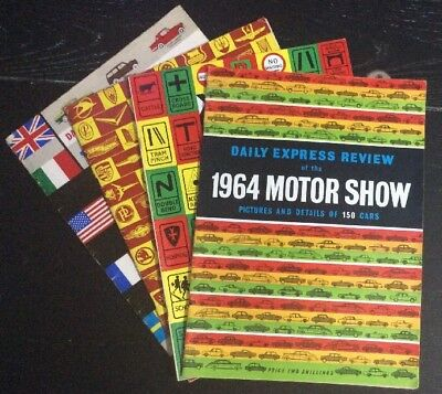 Vintage Daily Mail Review Of The 1960-61-62-64Motor Show, Adverts / Car / Models