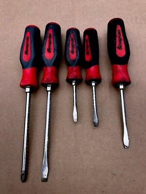 Snap On Tools 5 Pieces Screwdriver Set Shd2 ,shd6,and Others