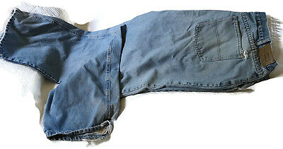 Field N' Forest Mens Blue Jeans Denim Sz 40 x 29 Distressed Button w Zip Fly