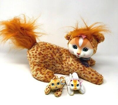 Kitty Surprise Autumn Cat Mommy Plush 2 Kittens Orange Leopard
