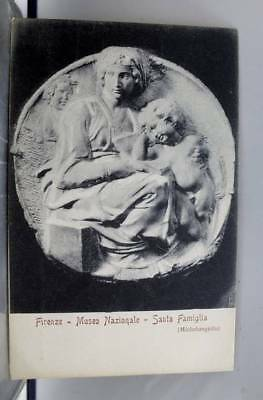 Italy Florence National Museum Santa Famiglia Michelangiolo Postcard Old Vintage