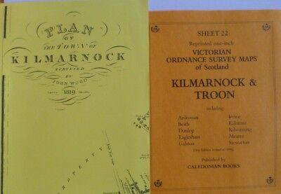 Victorian  Old Ordnance Survey Maps & Town Plan  Kilmarnock & Troon 1819 & 1896