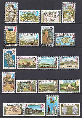 Mauritius 1978 Maps and Historical Events - Full MNH Set - Cat £27 - (12)