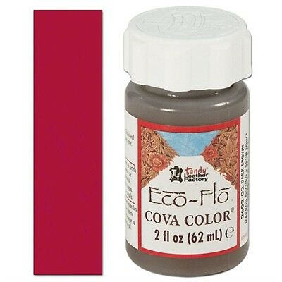 2oz Magenta Tandy Cova Farbe - Color Ecoflo Red Leather Paint Colour