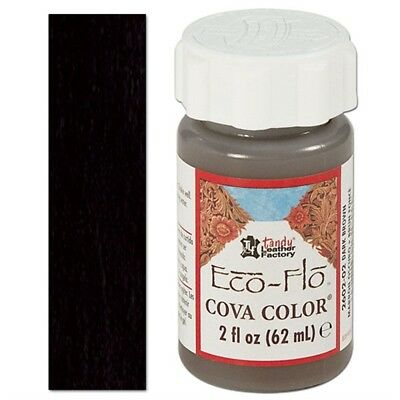 2oz Black Eco Leather Colour - Flo Cova Color Paint Leathercraft Tandy