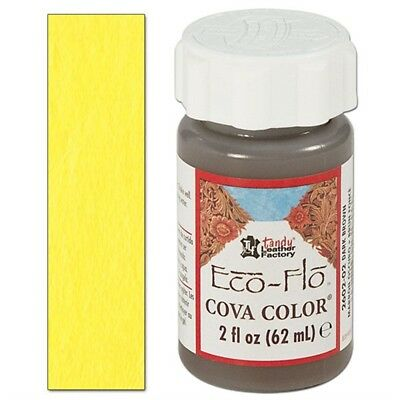Yellow Tandy Cova Leather Paint - Eco-flo Color 2 Oz Colour Leathercraft 2602-07